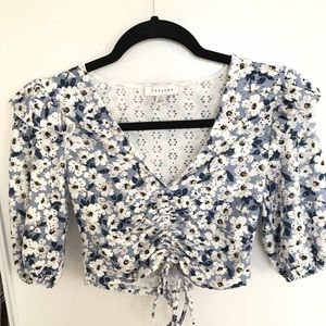 Topshop blouse crop